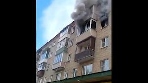 恐怖の火災現場救出の瞬間