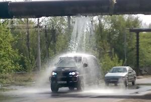 水道管が破裂したので無料で洗車