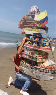 ビーチの物売り