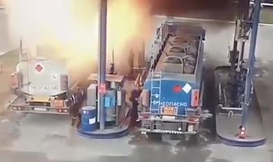 給油中に巨大爆発